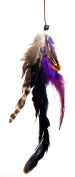 One Zhoe Full Feather Extensions Purple Hair Accessories 12835