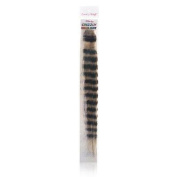 Lord & Cliff 100% Remy Human Hair Grizzly Highlight Clip-In Extension 36cm 613 Brwon