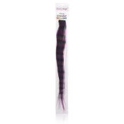 Lord & Cliff 100% Remy Human Hair Grizzly Highlight Clip-In Extension 36cm Purple/Brown