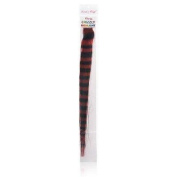 Lord & Cliff 100% Remy Human Hair Grizzly Highlight Clip-In Extension 36cm Red/Brown