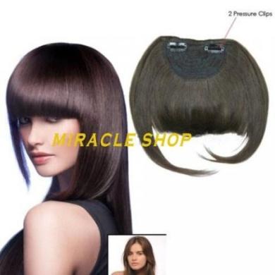 Clip in bang fringe colour black - 100% human hair