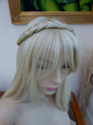 Plaited Braid Chunky Hair Headband Bleach Blonde Hair Piece Extension