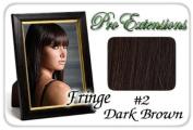 ProExtensions #2 Dark Brown Pro Fringe Clip In Bangs