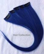 Hair Collection-30cm Blue 100% Human Hair Clip in on Extensions - 4.1cm widex5pcs