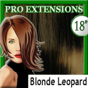 46cm Inch #24 Blonde Leopard Highlight Streaks Pro Extensions Premier Human Hair Extensions