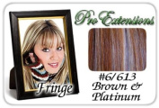 ProExtensions #6/613 Chestnut Brown w/ Platinum Highlights Pro Fringe Clip In Bangs