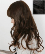 Silver J Wavey hair clip in extension, beautiful synthetic hair, off black, DIY style 14 pieces. 46cm
