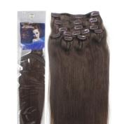 46cm Clip in Human Hair Extensions, 10pcs, 100g, Colour #4