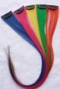 Hair Collection-46cm Colourful 100% Human Hair Clip in on Extensions - 4.1cm widex5pcs