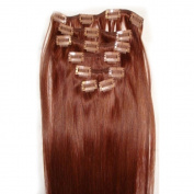 Emosa 50cm Colour #30 Full Head 100% Remy Human Hair Clips In Exensions 7Pcs
