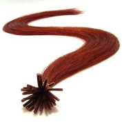25 Strands Micro Ring Links Locks Beads Straight Keratin Stick I Tipped Pre Bonded Human Hair Extensions Colour #33