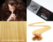 Vivid Hair 25 Strands Straight Keratin I Stick Tip Human Hair Extensions Colour #24