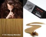 Vivid Hair 25 Strands Straight Keratin I Tip Stick Glue Human Hair Extensions Colour #16