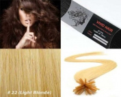 Vivid Hair 25 Strands Straight Keratin I Tip Stick Glue Human Hair Extensions Colour #22