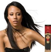 Milky Way Saga Gold Remy Human hair 25cm , 1B Off Black.