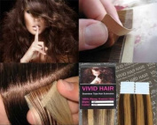 10 Pcs X 46cm inches Remy Seamless Tape Skin weft Human Hair Extensions Colour 5 / 7 W Medium Brown Mix Dark Blonde