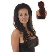 Bodywave Volume Half Wig Hairpiece | Add Length and Volume | Garland - Deep Red