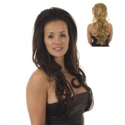 Bodywave Volume TiHaira Hairpiece | Half Wig | Hair Extensions | Multi-tonal Blonde Mix