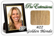 25cm Inch #22 Medium Blonde Pro Extensions Human Hair Extensions