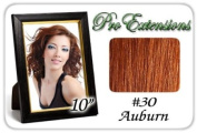 25cm Inch #30 Auburn Pro Extensions Human Hair Extensions