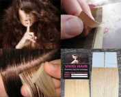 20 Pcs X 46cm Inches Remy Seamless Tape Skin Weft Human Hair Extensions Colour # 9 Light Blonde
