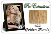 50cm Inch Body Wave #22 Medium Golden Blonde Pro Extensions Premier Human Hair Extensions