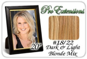 Pro Extensions Body Wave 50cm x 100cm #18/22 Dark Blonde with Light Highlights 100% Clip on in Human Hair Extensions