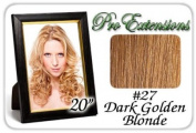 Pro Extensions Body Wave 50cm x 100cm #27 Dark Golden Blond 100% Clip on in Human Hair Extensions