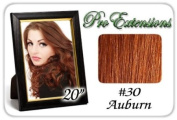 Pro Extensions Body Wave 50cm x 100cm #30 Auburn 100% Clip on in Human Hair Extensions