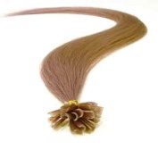 100 Strands Straight Pre Bonded U Nail Tipped Fusion Remy Human Hair Extensions 60cm Inches Pearl Blonde (Lilac) Colour