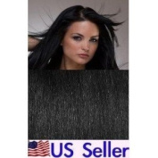 Full Head 70cm 100% REMY Human Hair Extensions 7Pcs Clip in 1# Jet Black