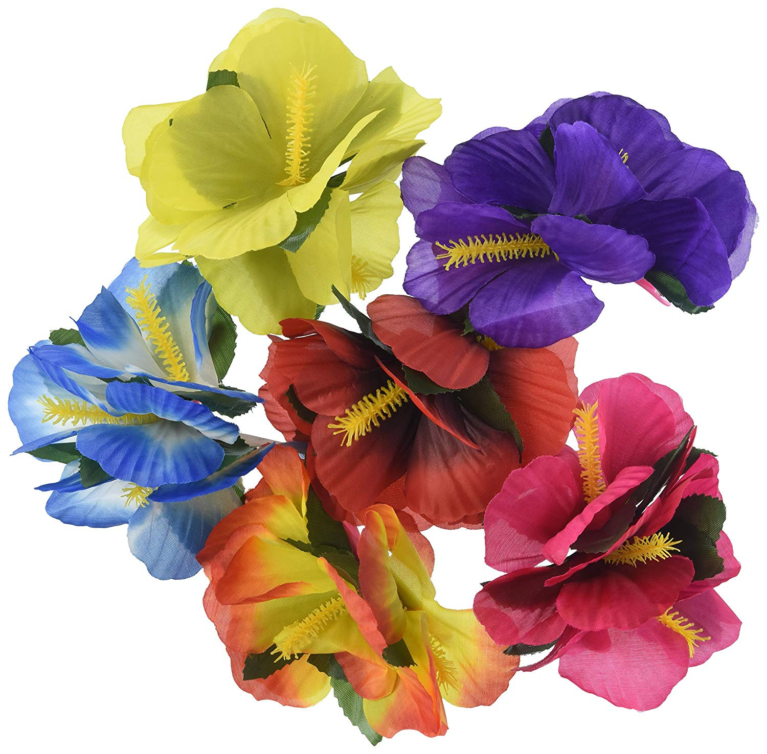 Hula Girl Hibiscus Flower Lei Hair Clips 12 By Unbranded Shop