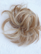 HAIR EXTENSION SCRUNCHIE NATURAL BLONDE UP DO DOWN DO MULT TONES SPIKY TWISTER