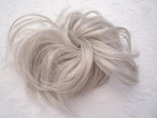 HAIR EXTENSION SILVER GREY SCRUNCHIE UP DO DOWN DO SPIKY TWISTER ON ELASTIC