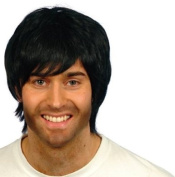 Boy Band Black Wig