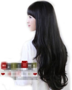 Pretty charming Long BLACK Wig Curly Wigs party wig jf010270
