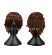 SureWells Nice wigs Vampire Knight,Sekai-ichi Hatsukoi,Chobits Dark Brown Cosplay Costume Wig