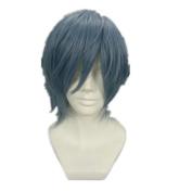SureWells Nice wigs Vampire Knight,Sekai-ichi Hatsukoi,Chobits Mix Blue Cosplay Costume Wig