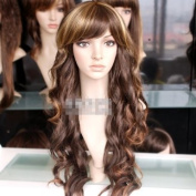Brown Mixed Blonde Wavy/curly Woman Cosplay Long Party Hair Wig