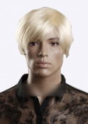 Sogood Fashion High-end Golden Short Straight Men's Wigs Lace Wigs Human Hair Wigs African American Wigs