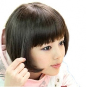 Cute Girls' BLACK Straight Bangs BOBO Wig Party Wigs JF010292