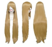 SureWells Fabulous APH Azrael Black Butler Flaxen Long Straight Cosplay Wig Costume Wigs