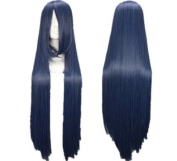 SureWells Fabulous Azrael Black Butler Dark Grey Blue Long Straight Cosplay Wig Costume Wigs