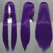 SureWells Fabulous Azrael Black Butler Dark Purple Long Straight Cosplay Wig Costume Wigs