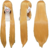 SureWells Fabulous Azrael Black Butler Golden Long Straight Cosplay Wig Costume Wigs