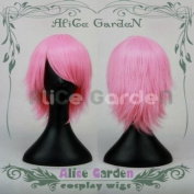 Cosplay Short Pink Wig Costume Wig Lace Front Wig