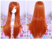 Lemail wig 68cm long orange Asuka straight cosplay wig ML64
