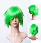 Cosplayland C556 - grass green 35cm short layered flip out halloween cosplay heat resistant Wig