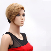 Classic Short Brown and Black Straight Wigs For Woman and Ladies Hair Wigs Synthetic Wigs Lace Wigs