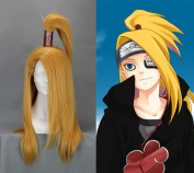 70cm Straight Blonde Cosplay Wig -- Naruto Akatsuki Deidara